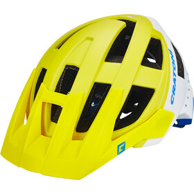 Cratoni Allset Casco, lime-white-blue matt